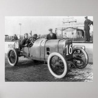 Coche de carreras 1913 impresiones