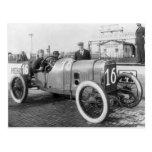 Coche de carreras 1913 postal