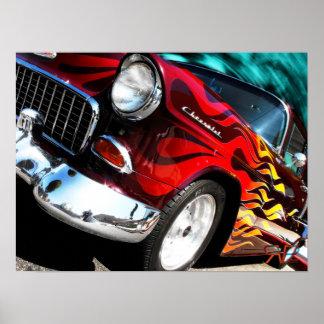 Coche de carreras 1955 de Chevy Posters