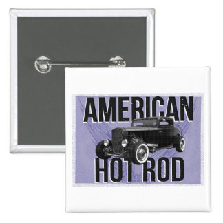Coche de carreras americano - versión azul pin cuadrado