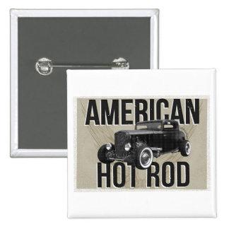 Coche de carreras americano - versión marrón pin cuadrado