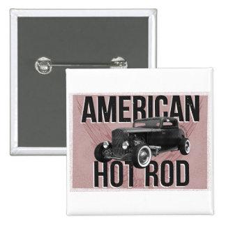 Coche de carreras americano - versión roja pin cuadrado