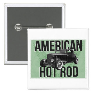 Coche de carreras americano - versión verde pin cuadrado