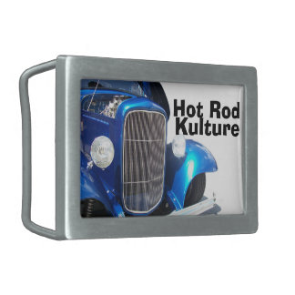 Coche de carreras azul Kulture del Deuce Hebilla Cinturón Rectangular