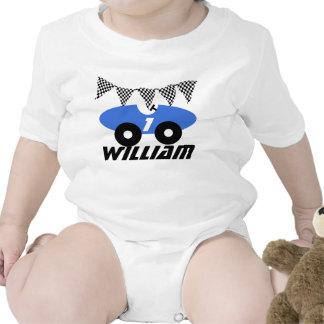 Coche de carreras azul trajes de bebé