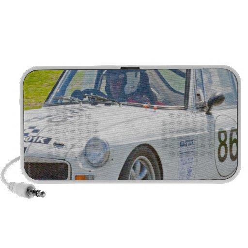 Coche de carreras blanco de MG Mp3 Altavoz