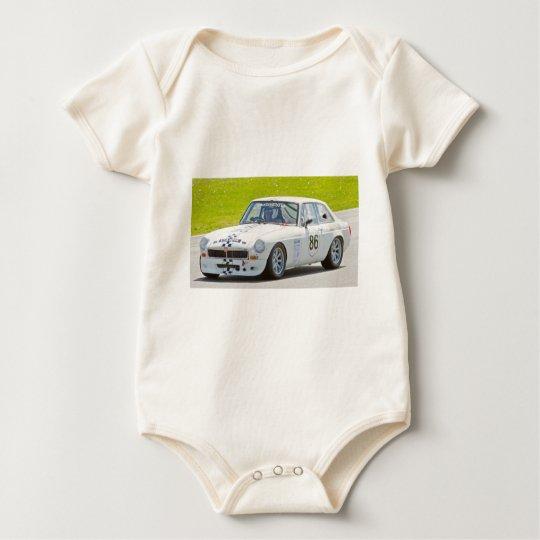 Coche de carreras blanco de MG Body Para Bebé