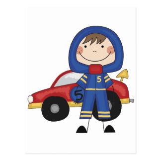 Coche de carreras - camisetas y regalos del muchac postal