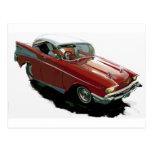 Coche de carreras Chevy 1957 Postal