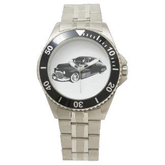 Coche de carreras clásico reloj