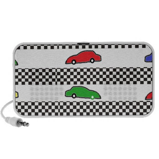 coche de carreras colorido altavoz de viaje