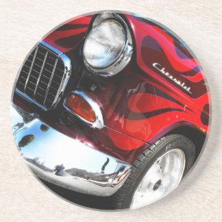 coche de carreras de Chevy de los años 50 Posavasos Diseño