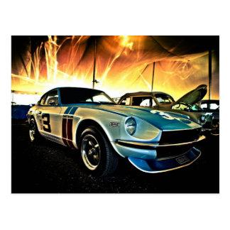 Coche de carreras de Datsun Z Tarjetas Postales