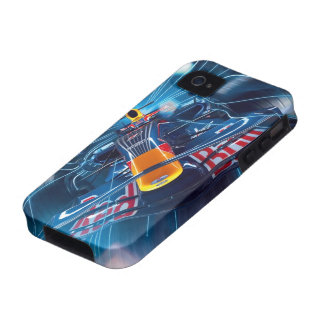 Coche de carreras de Formel Fantacy iPhone 4/4S Carcasas
