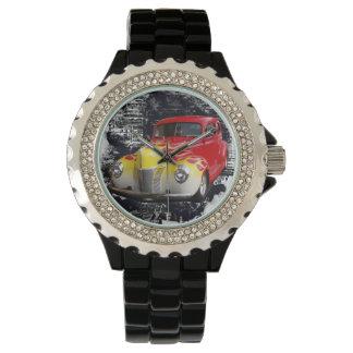 Coche de carreras de lujo relojes