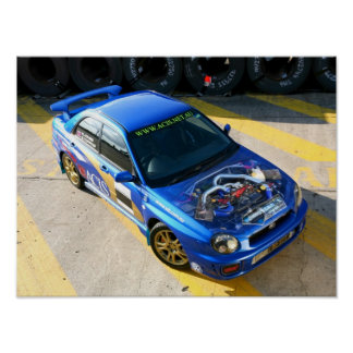 Coche de carreras de WRX Póster