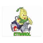 Coche de carreras del etanol tarjeta postal