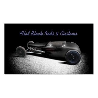 Coche de carreras del negro plano tarjeta de negocio