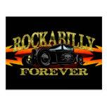 Coche de carreras del Rockabilly del engrasador Tarjetas Postales