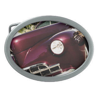 Coche de carreras del vintage hebillas de cinturón ovales