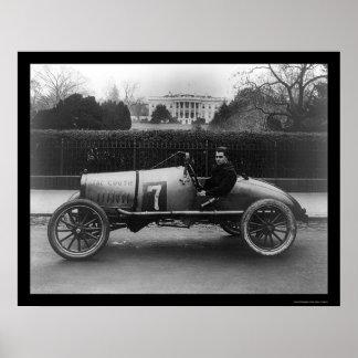 Coche de carreras, el Cootie, en la Casa Blanca 19 Póster