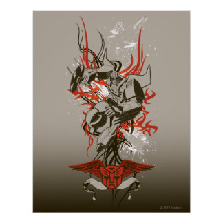 Coche de carreras - explosión tribal poster