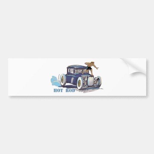 coche de carreras pegatina de parachoque