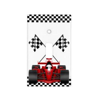 Coche de carreras rojo cubierta para interruptor