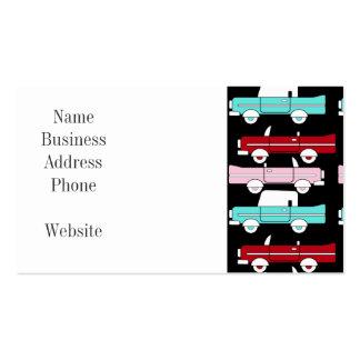 Coche de carreras rosado de las azules turquesas tarjeta de visita