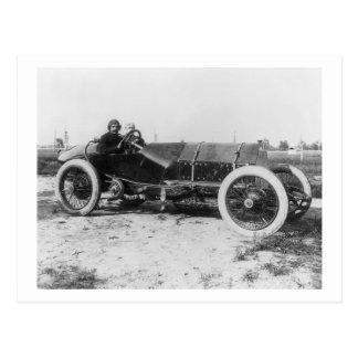 Coche de carreras temprano, 1913 tarjeta postal