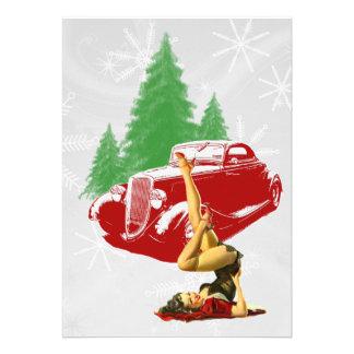 Coche de carreras y Pin encima del navidad
