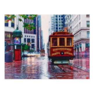 Coche de carretilla de San Francisco por el mac de Postales