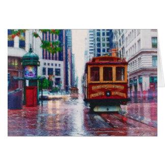 Coche de carretilla de San Francisco por el mac de Tarjeta De Felicitación