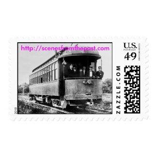 Coche de carretilla sello postal
