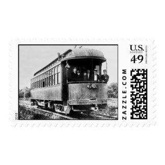 Coche de carretilla timbres postales