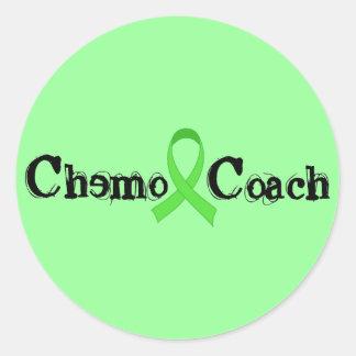 Coche de Chemo - cinta verde Pegatina Redonda