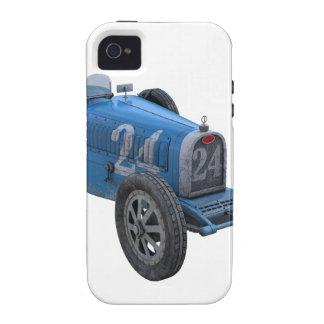 Coche de competición de Grand Prix en azul claro Vibe iPhone 4 Carcasas