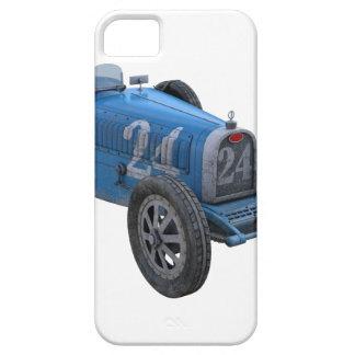 Coche de competición de Grand Prix en azul claro iPhone 5 Fundas