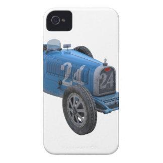 Coche de competición de Grand Prix en azul claro Case-Mate iPhone 4 Carcasa