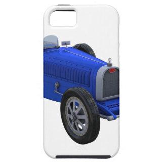 Coche de competición de Grand Prix en azul iPhone 5 Carcasas