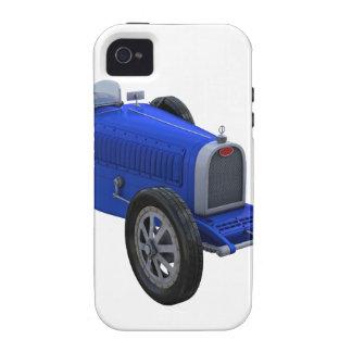 Coche de competición de Grand Prix en azul Vibe iPhone 4 Fundas
