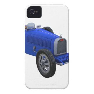 Coche de competición de Grand Prix en azul iPhone 4 Case-Mate Carcasas