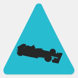 Coche de competición pegatina triangular