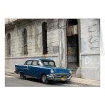 coche de Cuba del vintage Tarjeta