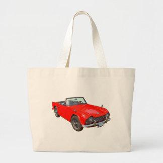 Coche de deportes convertible rojo de Triumph Tr4 Bolsas