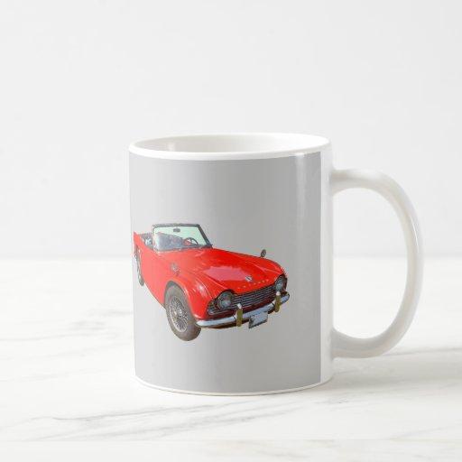 Coche de deportes convertible rojo de Triumph Tr4 Taza