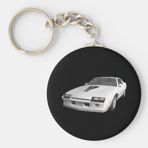 coche de deportes de 80s Camaro: modelo 3D: Llaver Llaveros Personalizados