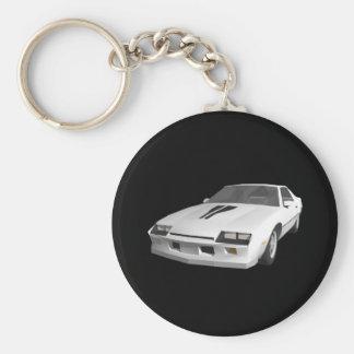 coche de deportes de 80s Camaro: modelo 3D: Llavero Redondo Tipo Pin