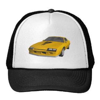 coche de deportes de Camaro de los años 80: modelo Gorros Bordados