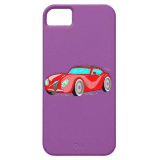 Coche de deportes rojo de lujo del dibujo animado iPhone 5 Case-Mate coberturas